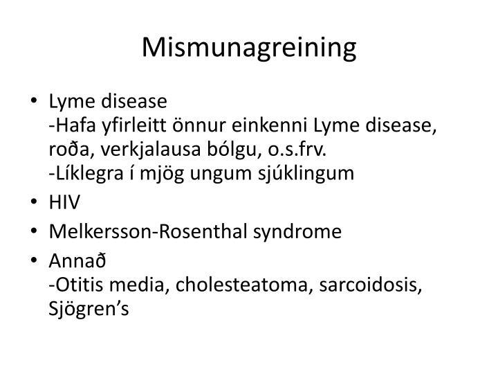 Mismunagreining