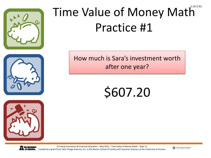 Time Value of Money Math Practice #1