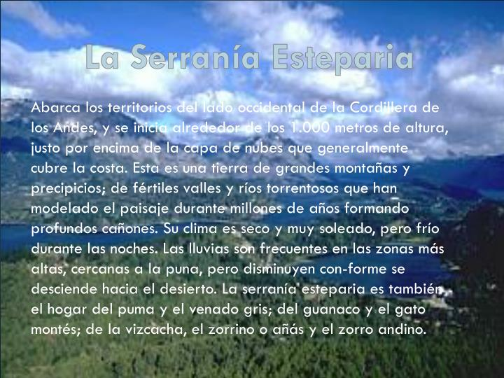La Serranía Esteparia