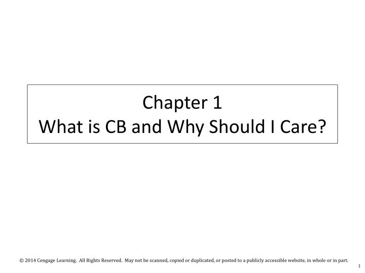 chapter 1 what is cb and why should i care n.