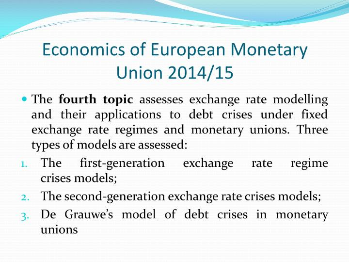 nature and objectives of economic and monetary union essay Economic and monetary union (emu) is an advanced stage of economic integration, which is characterized by the implementation of a common currency and economic policy at eu level and logical complements the creation of the single market can be defined six stages of economic.