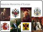 absolute monarchs of europe