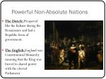 powerful non absolute nations