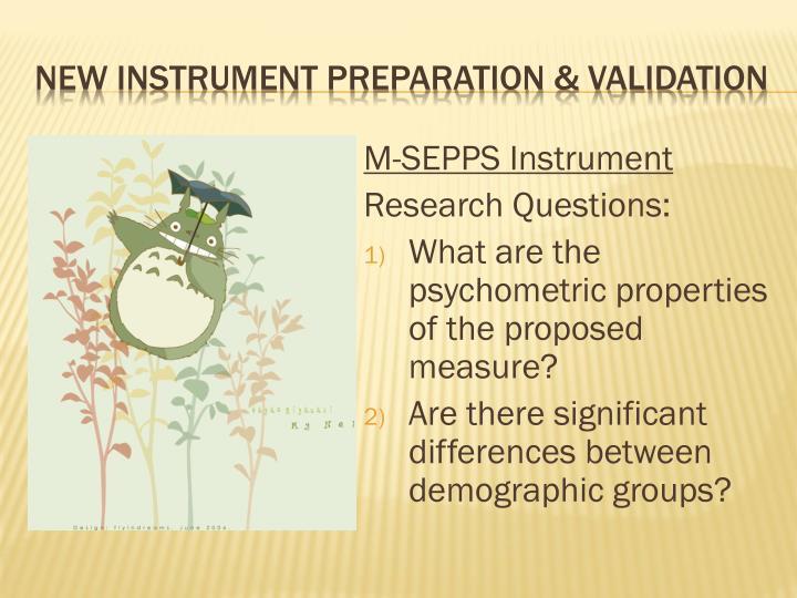 M-SEPPS Instrument