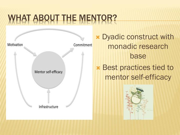 Dyadic construct with monadic research base