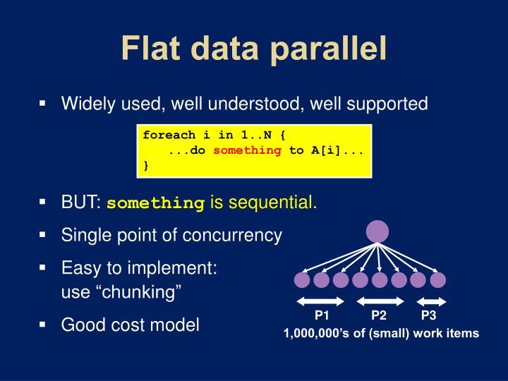 Flat data parallel