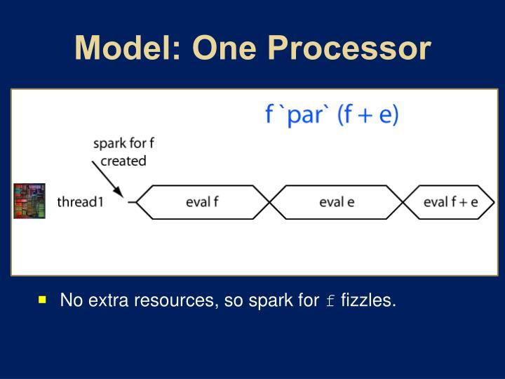 Model: One Processor