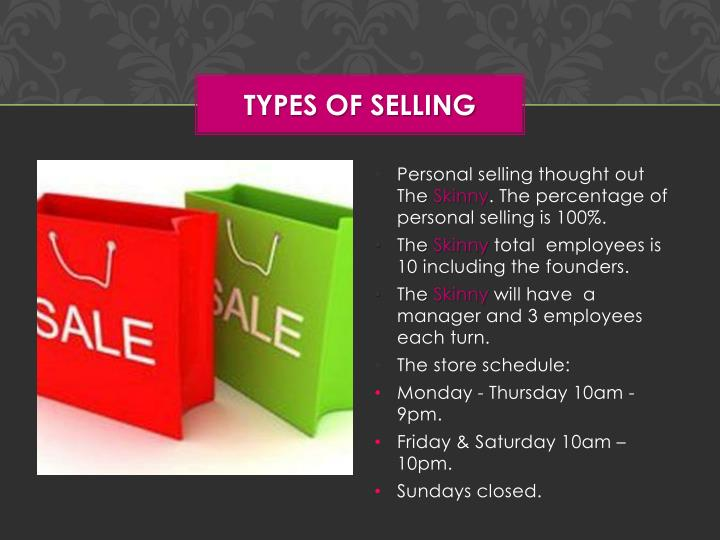Types of Selling