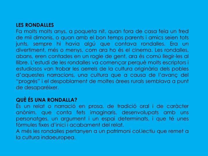 LES RONDALLES