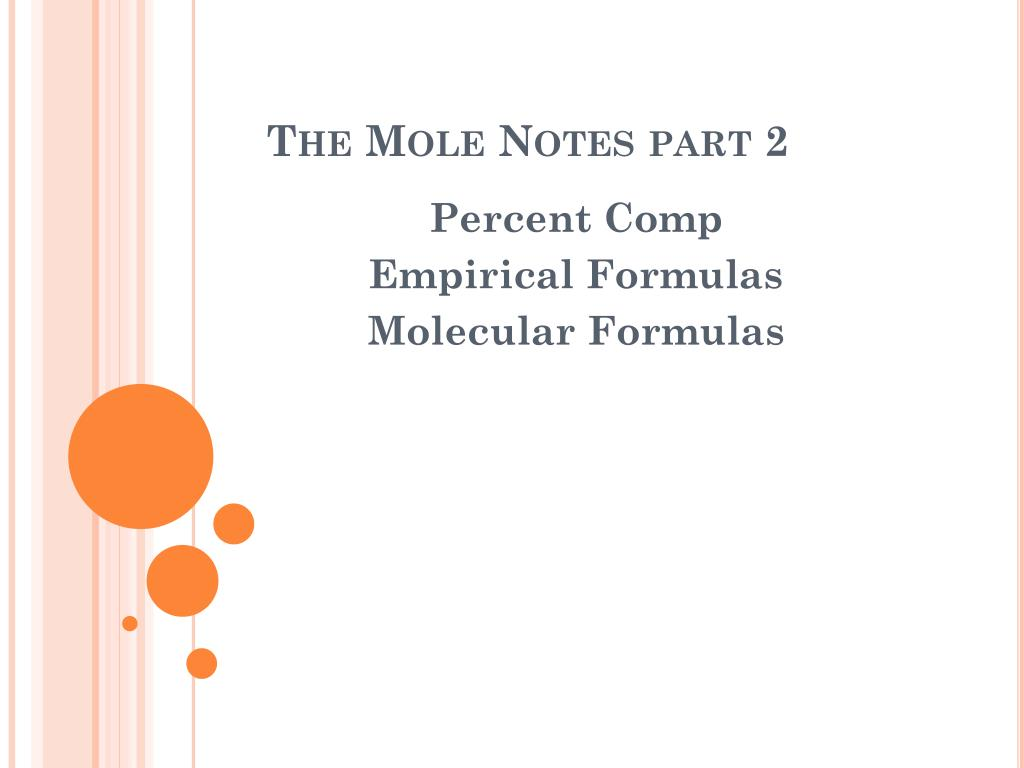 Ppt The Mole Notes Part 2 Powerpoint Presentation Id2674007 Formulas And Diagrams N