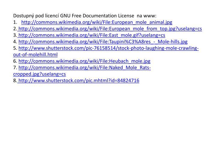 Dostupný pod licencí GNU Free