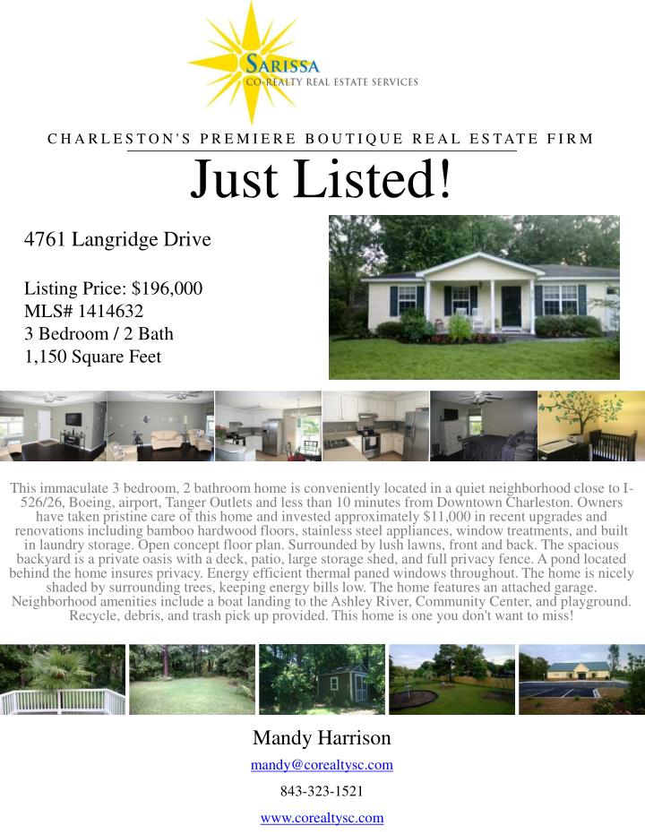 just listed n.