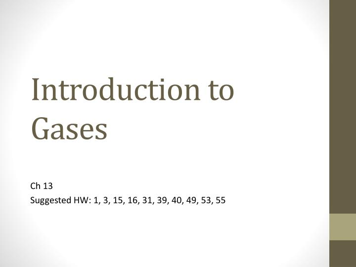 introduction to gases n.