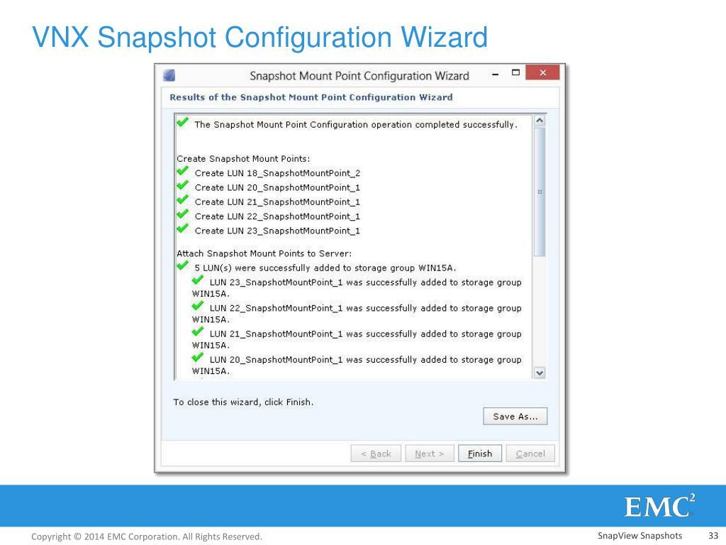 PPT - VNX Snapshot PowerPoint Presentation - ID:2674559
