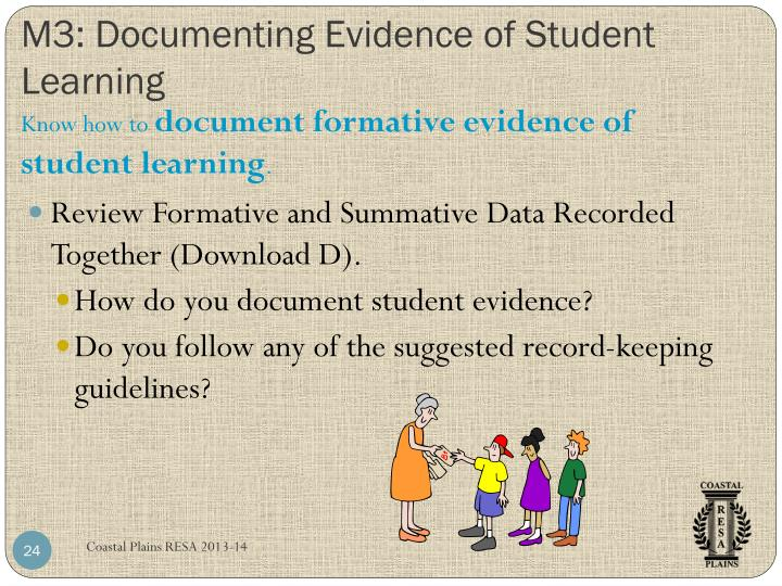 M3: Documenting Evidence of Student Learning