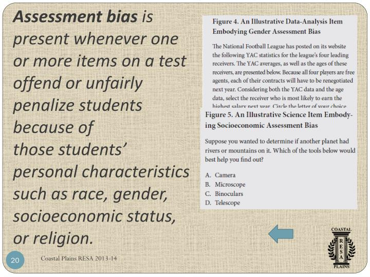 Assessment bias