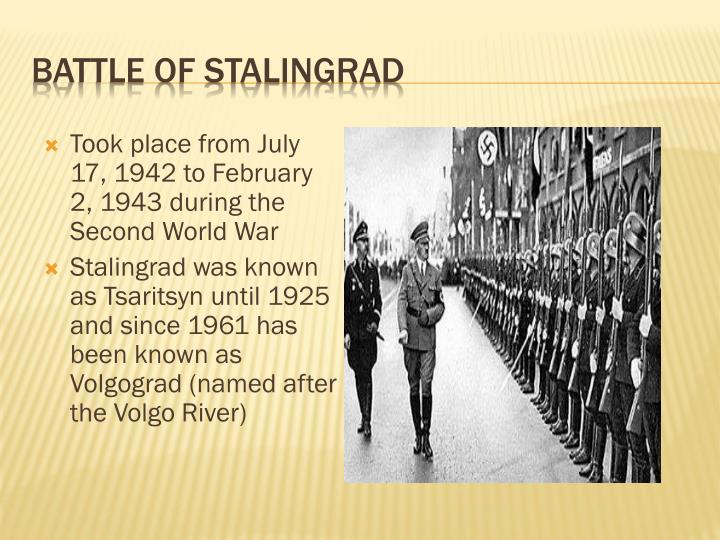 battle of stalingrad essay example The calculation of casualties depends on what scope is given to the battle of stalingrad the scope can vary from the fighting in the city and suburbs to the inclusion of almost all fighting on the southern wing of the soviet–german front from the spring of 1942 to the end of the fighting in the city in the winter of 1943.