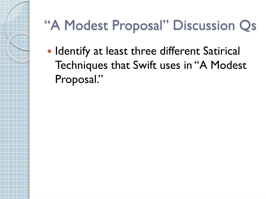 Ppt A Modest Proposal Discussion Qs Powerpoint Presentation