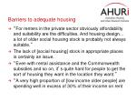 barriers to adequate housing