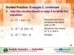 guided practice example 2 continued use the results found in step 4 to write the equation