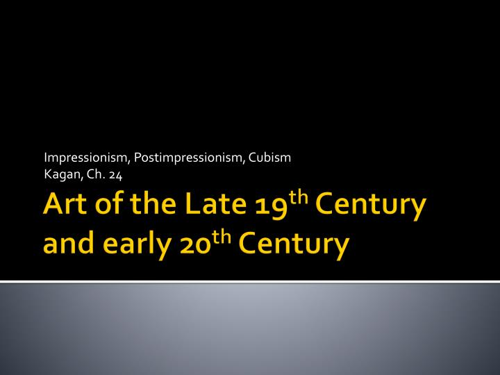the emergence of cubism in the early 20th century