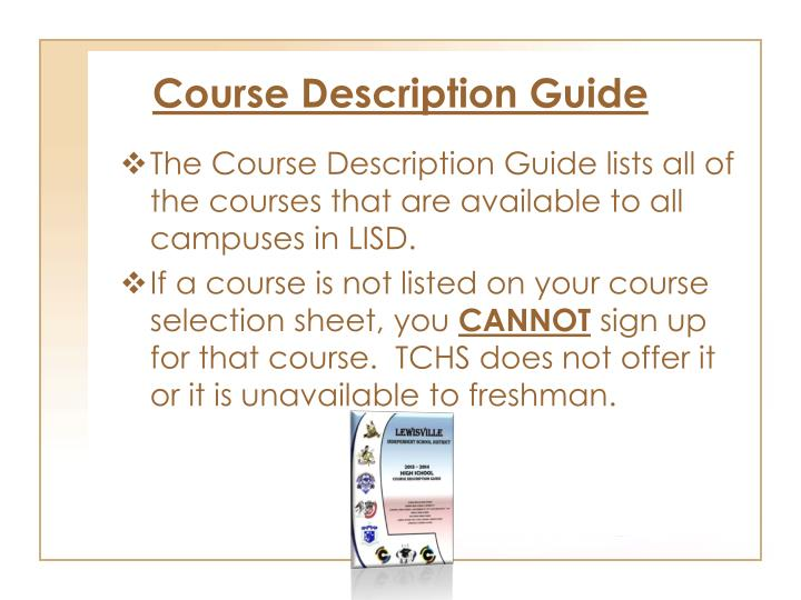 Course Description Guide