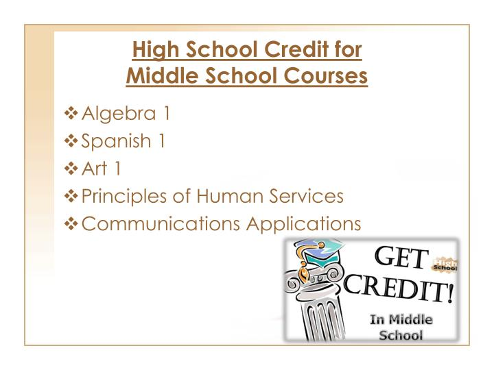 High School Credit for