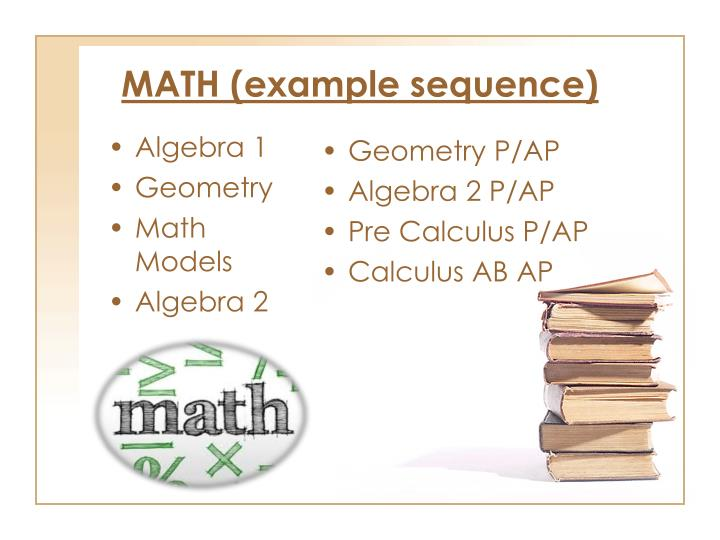 MATH (example sequence)