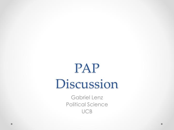 pap discussion