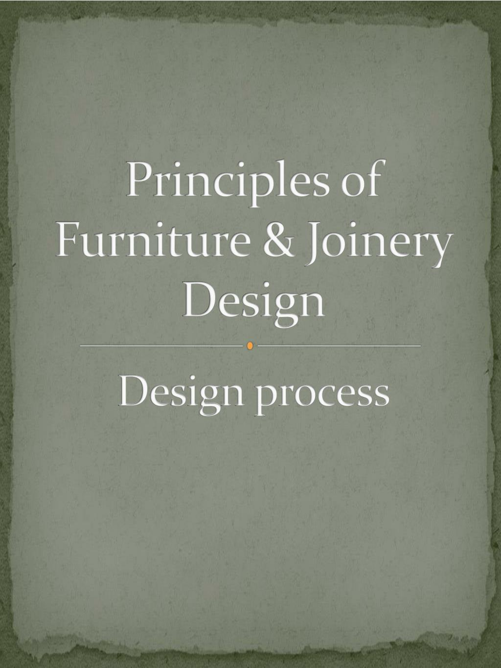 Principles Of Furniture Joinery Design Process