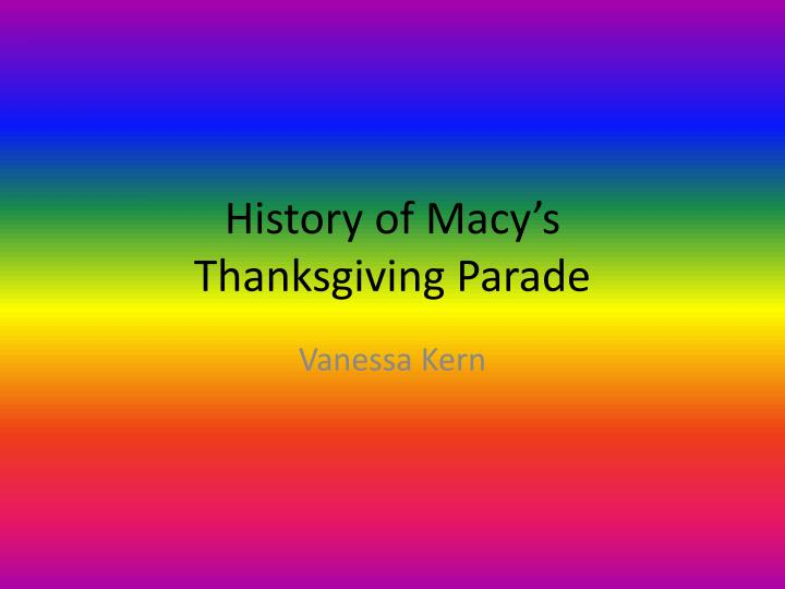 history of macy s thanksgiving parade n.