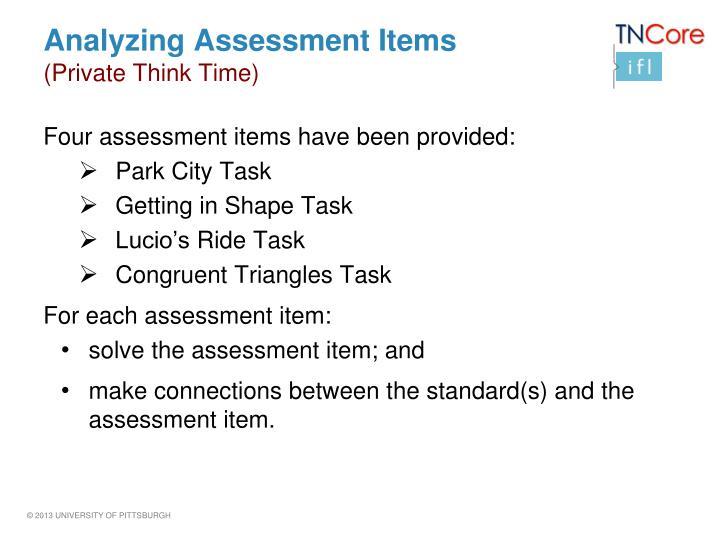 Analyzing Assessment