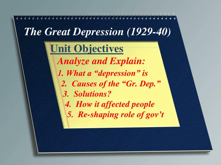 the causes of the great depression in 1929 in the united states