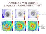 example of wrf output 6 19 m m abi radar reflectivity
