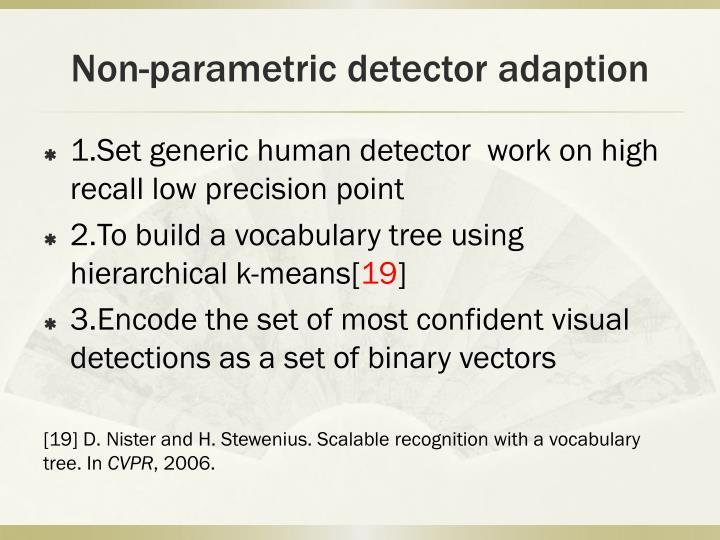 Non-parametric detector
