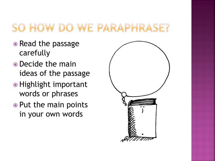 Paraphrasing poetry powerpoint