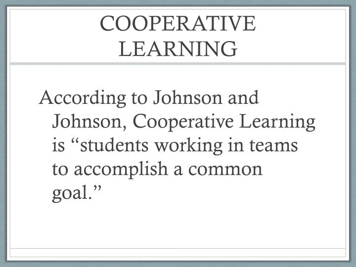 Cooperative learning2