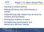 vision 1 9 egov action plan