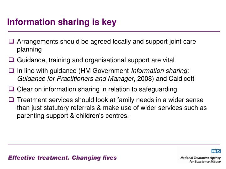 Information sharing is key