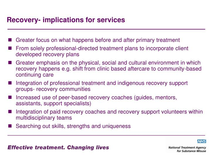 Recovery- implications for services