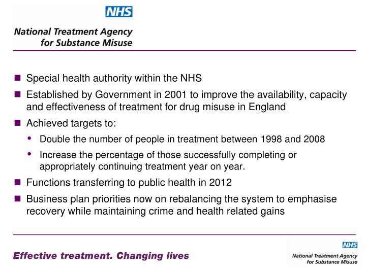 Special health authority within the NHS