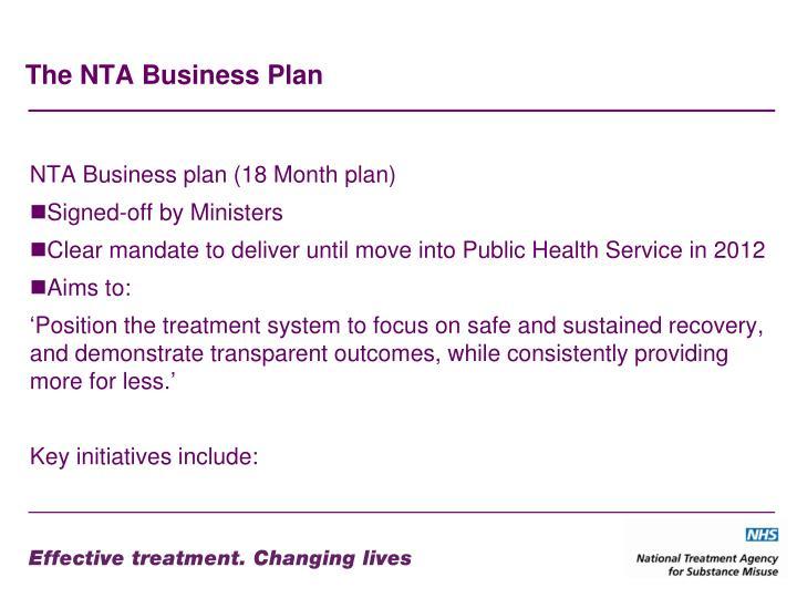 The NTA Business Plan