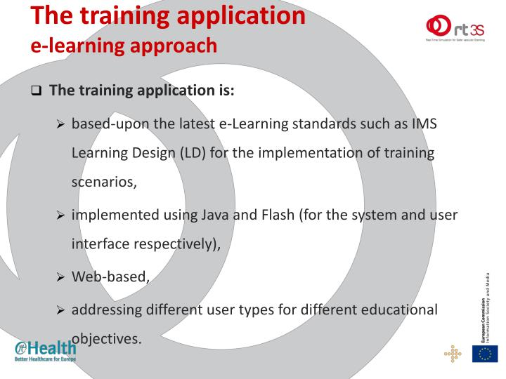 The training application