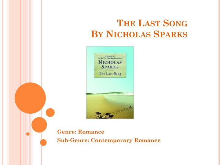 the last song by nicholas sparks n.