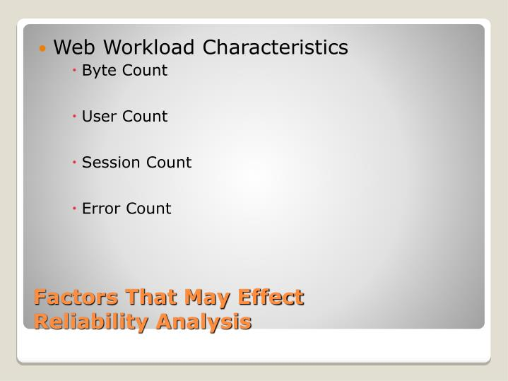 Web Workload Characteristics