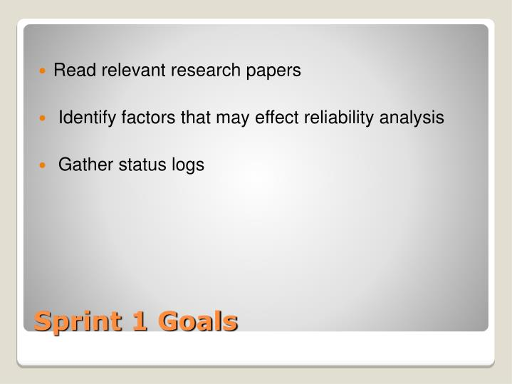Read relevant research papers