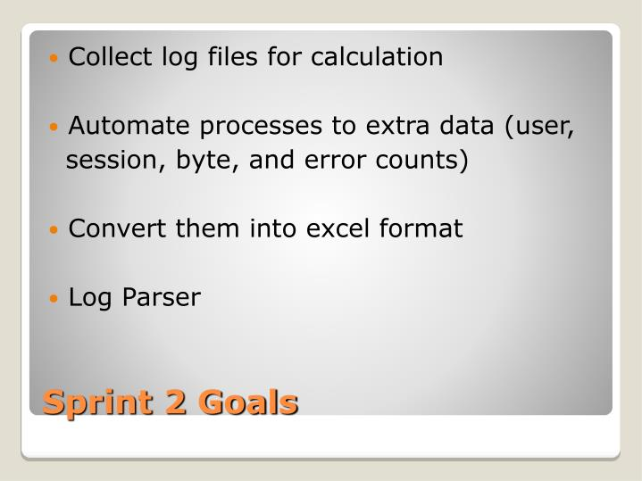 Collect log files for calculation