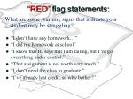 red flag statements