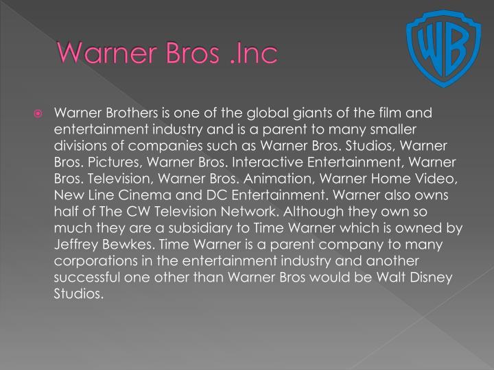 Warner bros inc