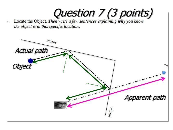 Question 7 (3 points)